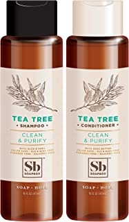 Soapbox Shampoo and Conditioner Set with Tea Tree Oil, Jojoba Oil, Aloe and Shea Butter to Clean and Purify for All Hair T...