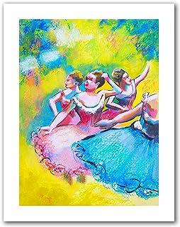 アートウォール 「Edgar Degas」作「三人のバレリーナの解釈」 Susi Franco アンラップキャンバスアートワーク 52 by 40-Inch 0fra074a3648r