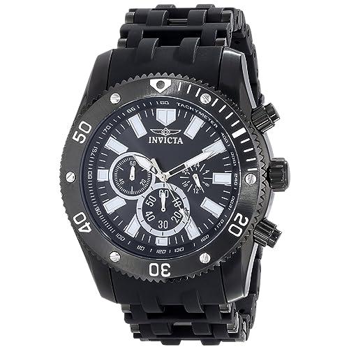 Invicta Mens 14862 Sea Spider Analog Japanese-Quartz Black Watch