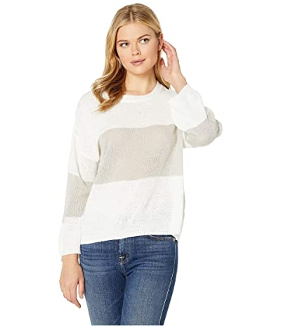 American Rose Hesper Sweater with Stripe (Off-White/Gray) Women