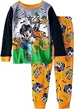 Pirate Mickey Goofy Pluto Glow in The Dark Halloween 2 Piece Toddler Boys Pajama Set