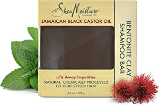 Shea Moisture Jamaican Black Castor Oil Bentonite Clay Shampoo Bar by Shea Moisture for Unisex - 4.5 oz Shampoo Bar, 136.0...