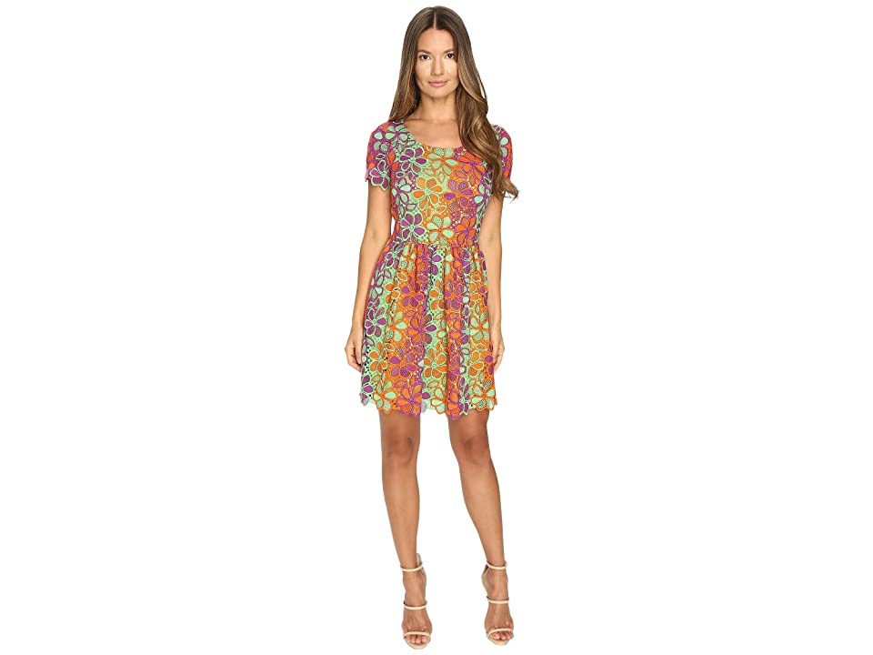 Boutique Moschino Multicolor Lace Dress (Pink Multi) Women