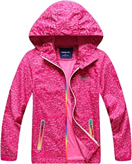Boys Girls Outdoor Quick Dry Lightweight Jacket with Hood