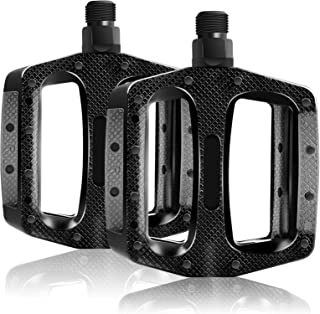 """Sugelary Bike Pedals, 3 Sealed Bearings Mountain Bike Pedals, Super Anti-skid Surface with 9/16"""" Screw Thread, Cr-Mo Spind..."""