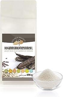 Johannisbrotkernmehl 500 g natürliches Verdickungsmittel rein pflanzlich | veganer Ei-Ersatz | kalorienarme Speisestärke | glutenfrei Backen und Kochen | Golden Peanut
