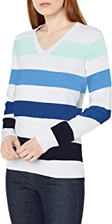 Amazon Essentials Women's 100% Cotton Long-Sleeve V-Neck Sweater