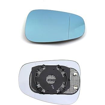 Compatibile con Fiat Sedici fino al 2011 Curvo Piastrato Termico Cromato Sinistro Specchio Retrovisore specchietto esterno