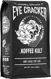 Koffee Kult Eye Cracker Espresso Beans - Bright, Bold Medium Roast with a Citrus Twist Coffee (12 Ounce)