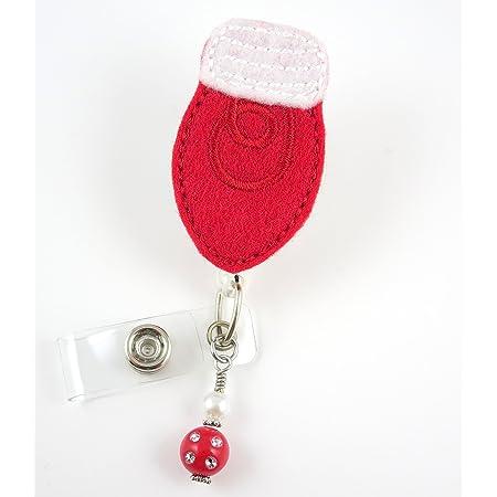 Christmas badge reel retractable badge holder badge reel for nurse pediatric nursing badge reels rn badge reel id badge holder kawaii gifts