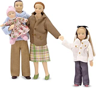 Melissa & Doug Victorian Doll Family, Dollhouse Accessories (4 Poseable Play Figures, 1:12 Scale, Great Gift for Girls and Boys - Best for 6, 7, 8 Year Olds and Up)