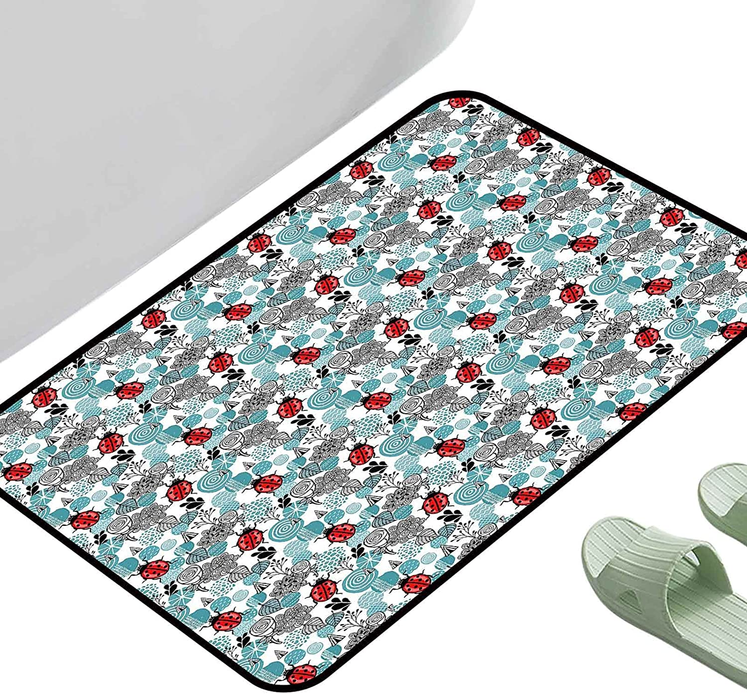 Kitchen Doormat Ladybugs Romantic Elements Flowers Roses Ab All items in the Elegant store Bugs