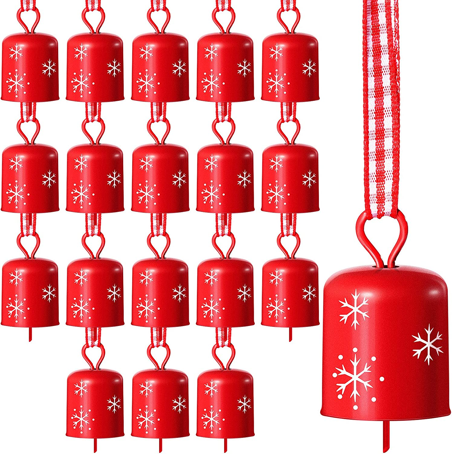 18 Pieces Now on sale Christmas Complete Free Shipping Bells Tree Sno Ornament with