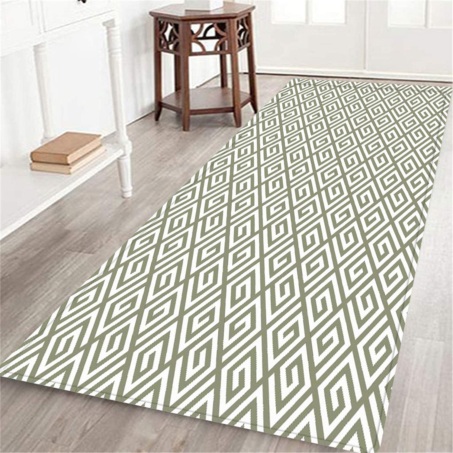 NEW TISAGUER Long Floor Mat with Traditional Geometrical Finally popular brand Composition