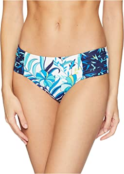 Tropical High-Waist Shirred Hipster