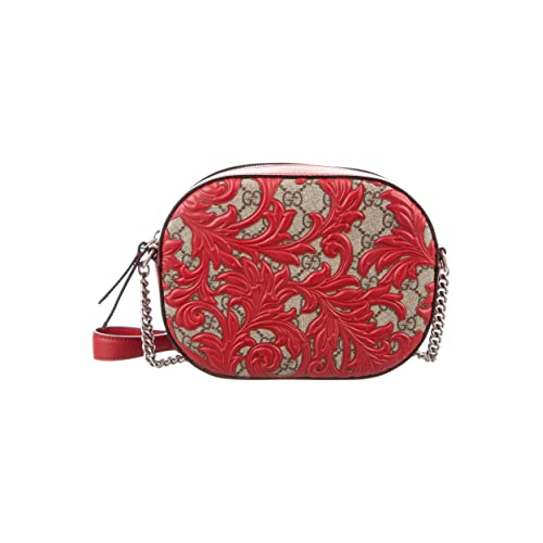 4785153c0130ba Gucci Dionysus Red Lace Signature Arabesque Med Shoulder Bag Handbag Italy  New