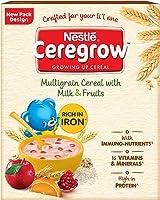 Nestle CEREGROW Growing Up Multigrain Cereal with Milk & Fruits, 300g