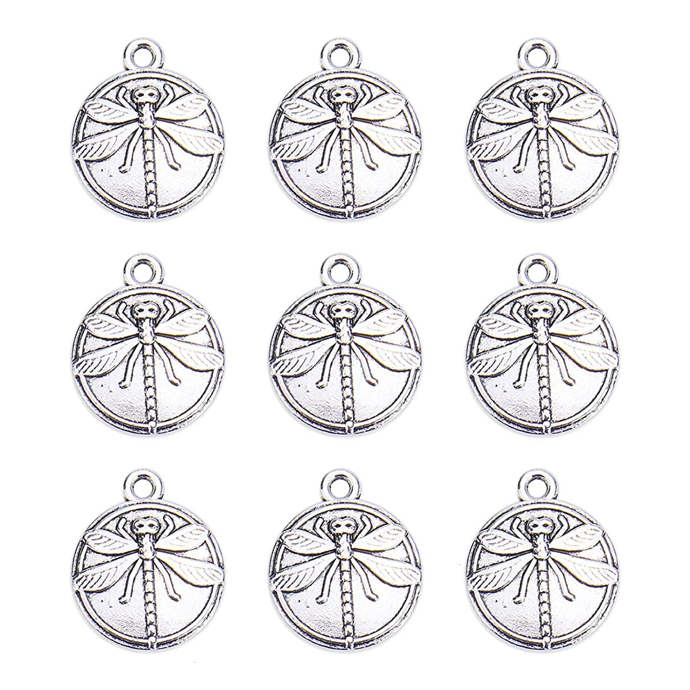 Monrocco 60 pcs Silver Dragonfly Charms 15mm v2740023907