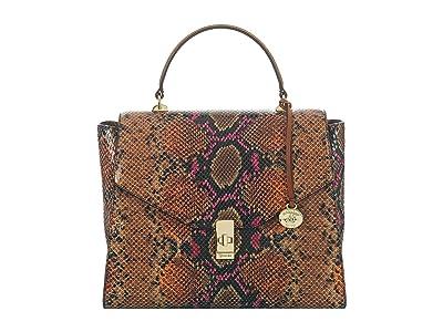 Brahmin Tangelo Ingrid Satchel (Marmalade) Handbags