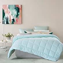 mint green and pink comforter
