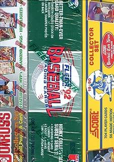1992 Fleer LUMBER 1990 Score 1991 Donruss Baseball Card Complete Set FACTORY Box
