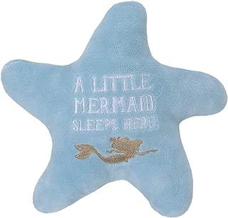 Disney Ariel Sea Princess Starfish Decorative Pillow, Blue/White/Gold