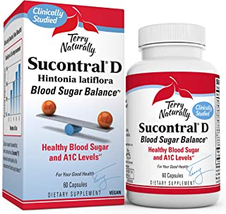 Terry Naturally Sucontral D - 20 mg Hintonia Latiflora, 60 Capsules - Supports Blood Sugar Balance, Carbohydrate Metabolis...