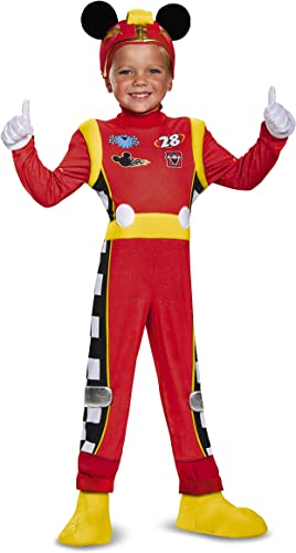 Mickey Roadster Deluxe Toddler Costume, MultiCouleur, grand (4-6)