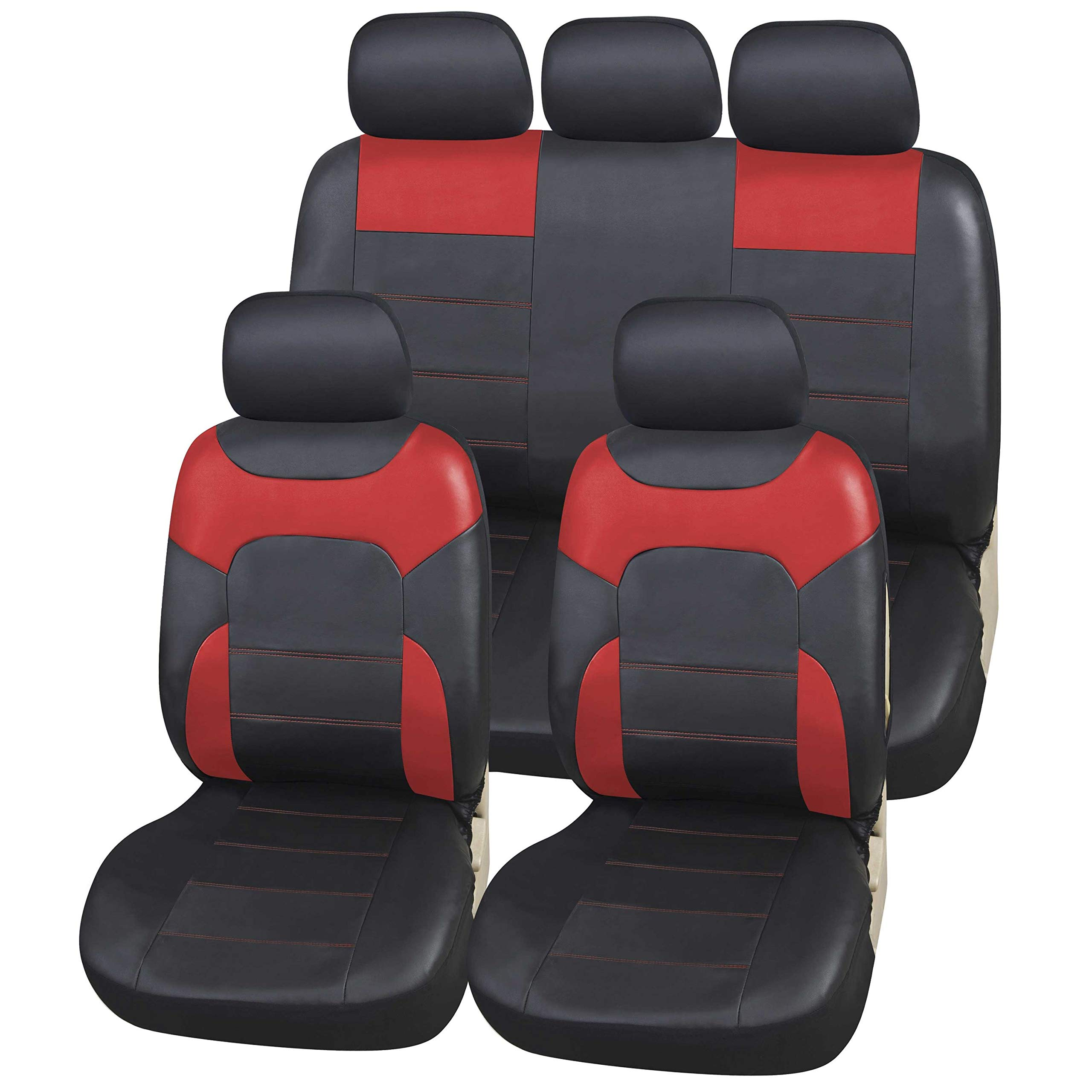 5902538593243 faux leather Mossa XL-B Universal Car Seat Covers Set