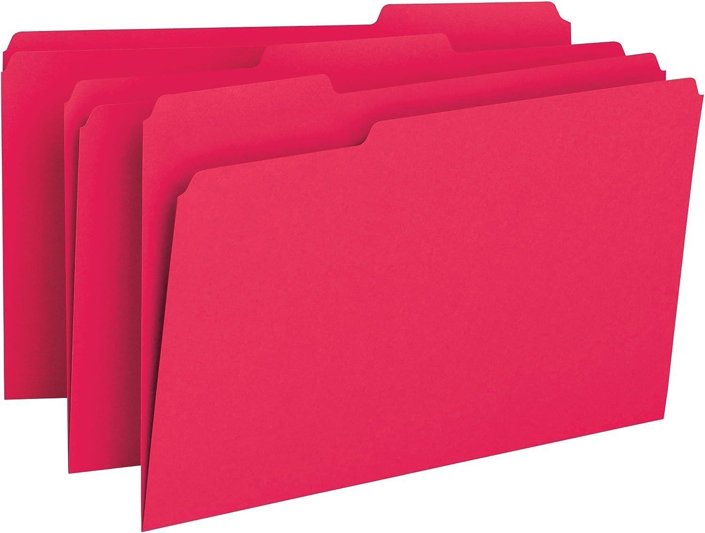 SMEAD Datei Ordner, 1 3-cut Tab, Legal Gre, Rot, 100Pro Box (17743)