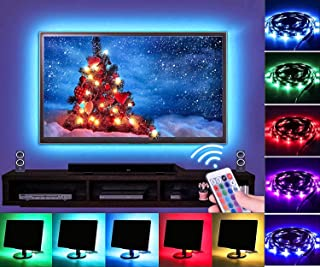 Led Strip Lights 6.56ft/2m for 40-60in TV Waterproof 5050 RGB Bias Lighting UNPAD USB TV LED Backlight Kit with Remote Control