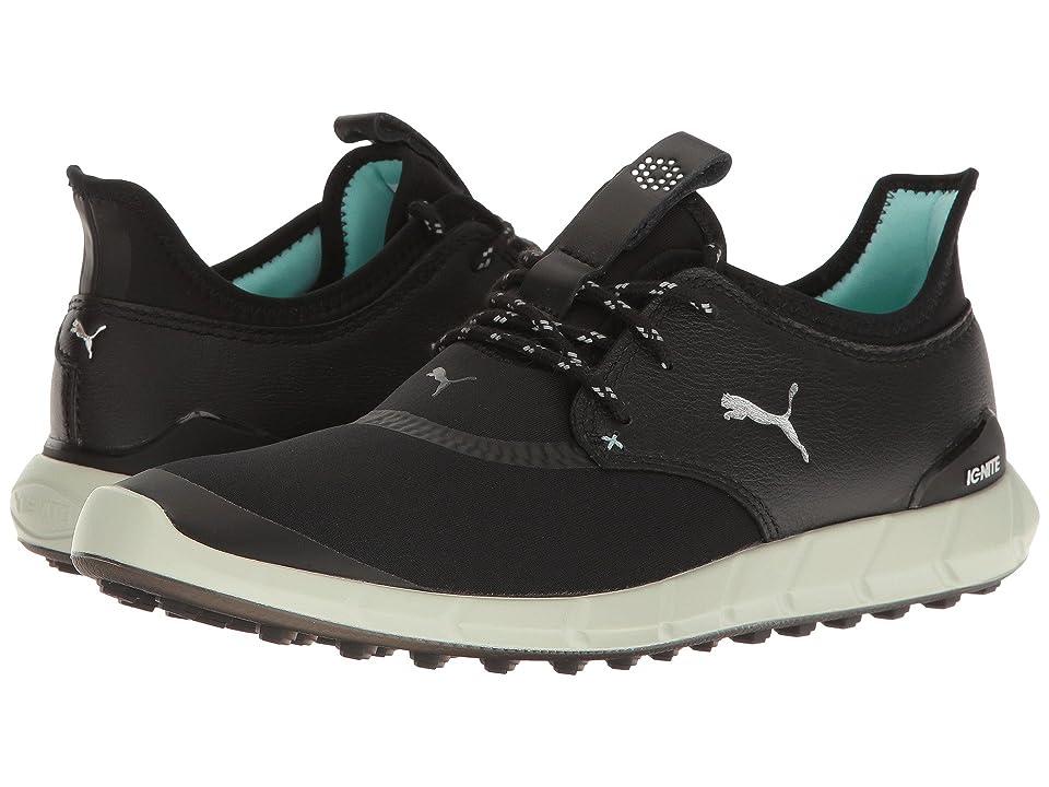 PUMA Golf Ignite Spikeless Sport (Black/Silver/Aruba Blue) Women