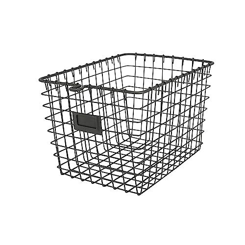 Spectrum Diversified 47876 Wire Storage Basket, Small, Industrial Gray