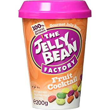 The Jelly Bean Factory Frucht Cocktail 200 g Cup | Gourmet Jelly Beans