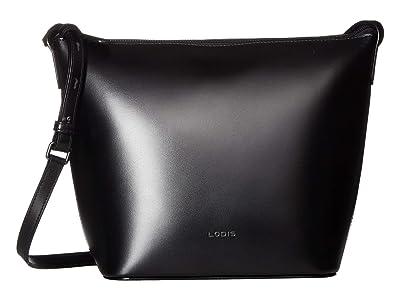 Lodis Accessories Audrey RFID Camilla Bucket Crossbody (Black/Black) Cross Body Handbags