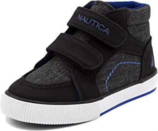 Nautica Kids Rig Canvas Support Sneaker Fashion Shoe Boot Like High Top (Toddler/Little Kid)