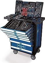 Scheppach TW1000 TW1000-Carro de Herramientas (263 Piezas) Accesorios, Bien Surtidos, se Puede Cerrar y móvil