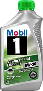 Mobil 1part No. 112746 (Advanced fuel economy) 0W-30 Motor Oil - 1 Quart (Pack of 6)