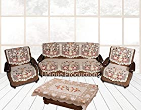 Weaves & Crafts™ PrintCode Line 5 Seater Sofa Cover Set -10 Pieces with 1 Center Table Cover