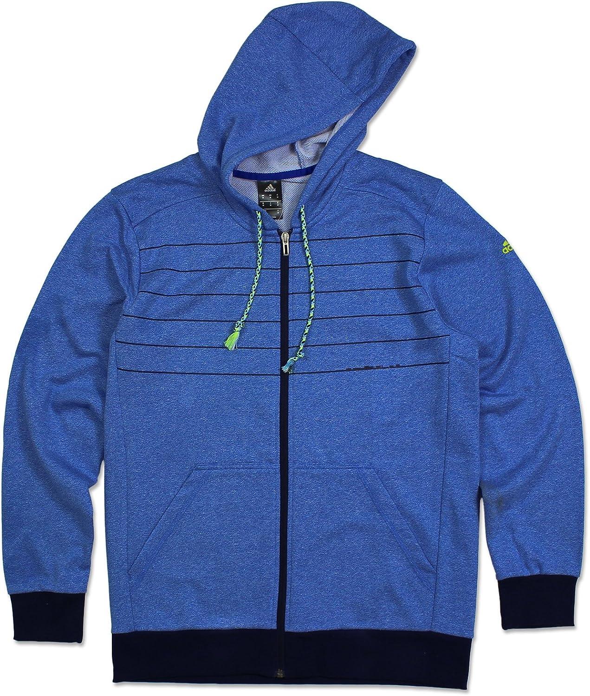 Adidas ESS 3S Sweatjacke Full Zip Hoodie Trainingsjacke Kapuzen Jacke BLAU S-XXL