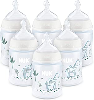 NUK Smooth Flow Anti-Colic Bottle, 5 Oz, 6 Pack, 0+ Months
