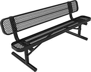 park bench with back
