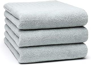HomeFirst バスタオル 3枚セット 綿100% 大判 ホテルスタイル タオル 吸水力抜群 柔らかい ふわふわ 耐久性 抗菌防臭 吸水速乾 人気 70×140cm 重さ約360g/枚