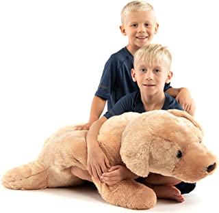 Extra Large Stuffed Dog Hugging Toy-Giant Sleeping Plush Body Pillow for Kids, Adults-Ideal for Bedroom Bed, Valentine's D...
