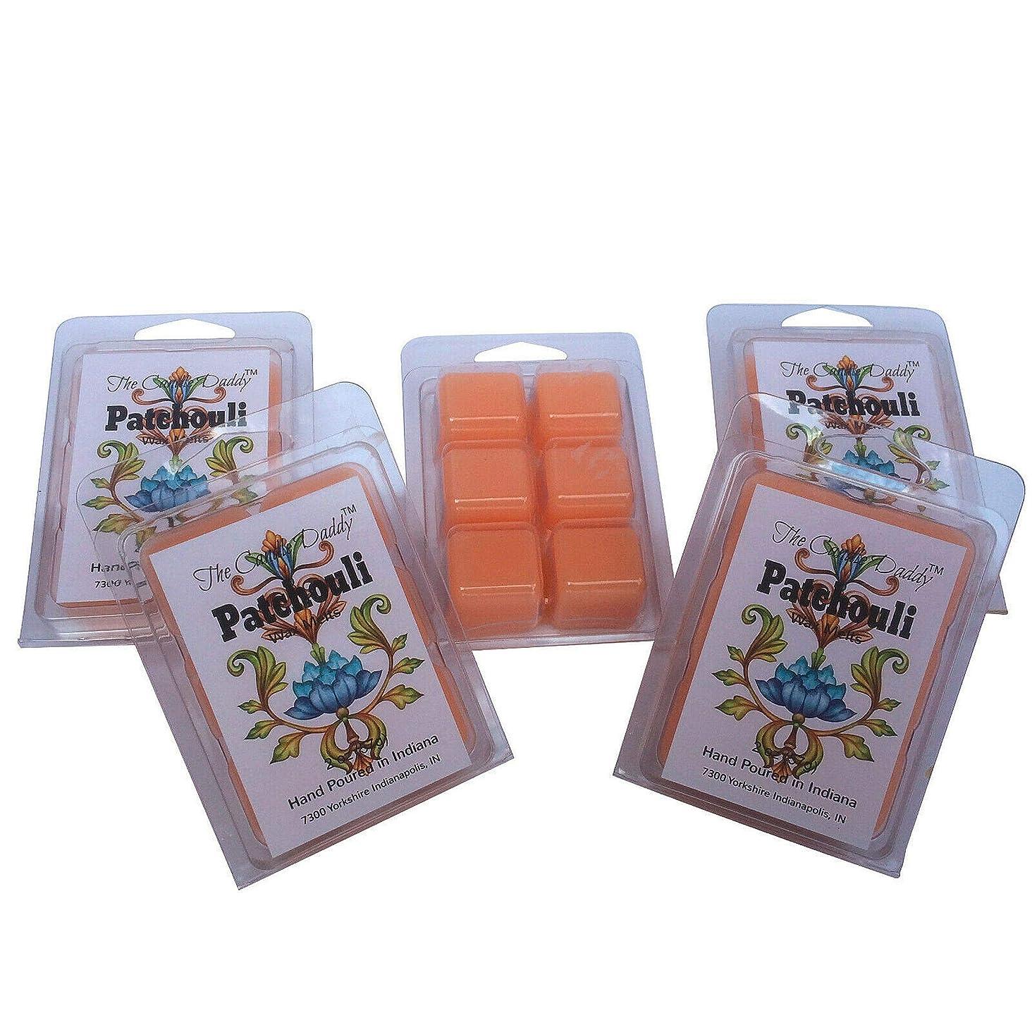 過敏な独占保護The Candle Daddy Patchouli - 最大香りのワックスキューブ/タルト/メルト- 5パック-10オンス 合計30個