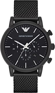 Emporio Armani Gents Wrist Watch, Black AR1968