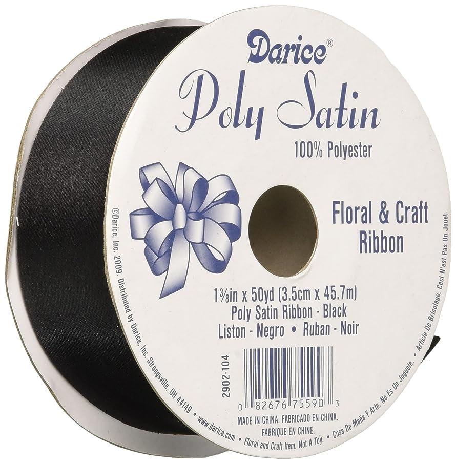 Poly Satin Ribbon 2902-104 Black 1.375