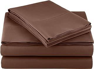 AmazonBasics Light-Weight Microfiber Sheet Set - Queen, Chocolate