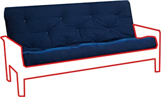 Royal Sleep Products Futon Mattress Solid Cover 8 Layer Factory Direct Made in The USA (Navy, Full)