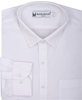 Maharaja Men's Wear Solid Slim Fit Formal Shirt[1 Varient]
